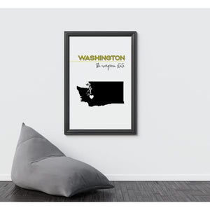 Customizable Washington state art - Customizable