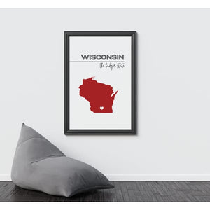 Customizable Wisconsin state art - Customizable