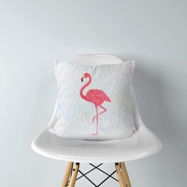 Flamingo Petals | double-sided tropical pillow - Pillows