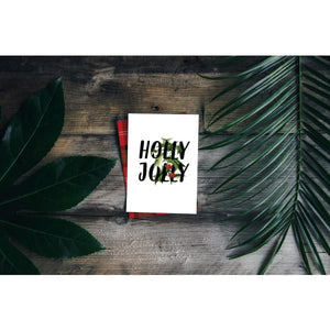Holly Jolly Christmas card | A2 size greeting card