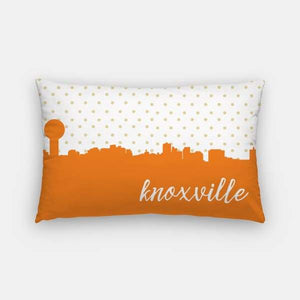 Knoxville Tennessee polka dot skyline - Pillow | Lumbar / DarkOrange - Polka Dot Skyline