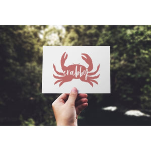 Nantucket Collection | Crabby Crab greeting card - Stationery