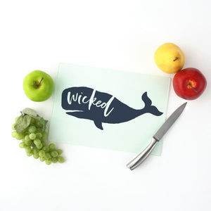Nantucket Collection | Wicked Whale Cutting board - Home Decor