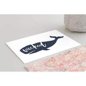 Nantucket Collection | Wicked Whale greeting card - Stationery