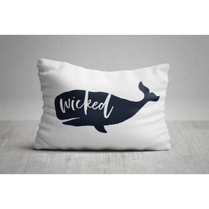 Nantucket Collection | Wicked Whale rectangle throw pillow - Pillows