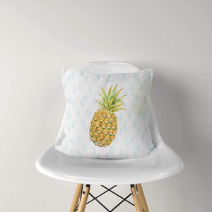 Pineapple Raindrops | double-sided tropical pillow - Pillows