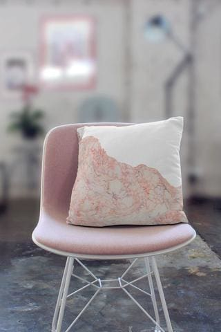 Nantucket Pink Marble Pillow PaperFinch Design