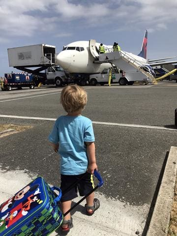Taking a Toddler Abroad: Part One flying with a toddler