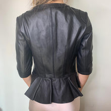 Load image into Gallery viewer, Button Ruffle Jacket in Black