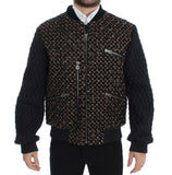 Black Sequined Goatskin Jacket  - designer apparel and accessories