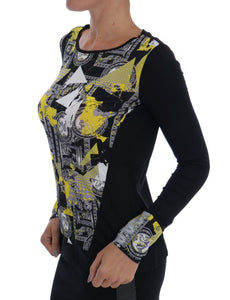 Black Baroque Stretch Pullover Sweater  - designer apparel and accessories