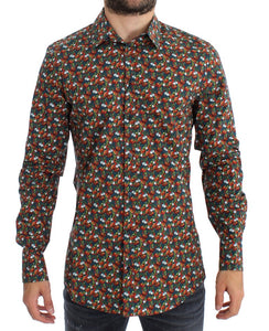 Tomato Garlic Print GOLD Slim Fit Shirt