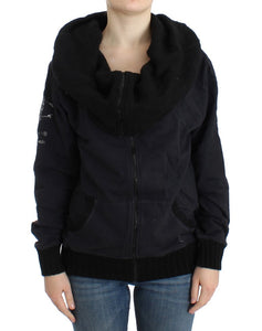 Black cotton jacket  - designer apparel and accessories