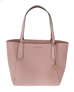 Pink KIMBERLY Leather Tote Bag  - designer apparel and accessories