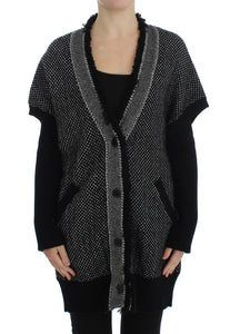 Gray Knitted Cashmere Cardigan  - designer apparel and accessories