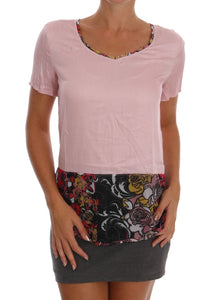 Pink Motive Stretch Blouse Top