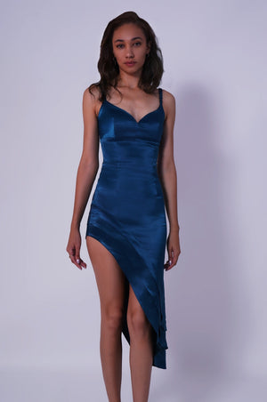Satin Hi-Low Dress