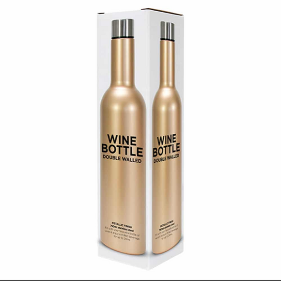 Wine Bottle – Double Walled – Stainless Steel