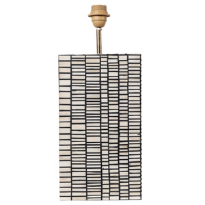 Bone Inlay Rectangular Lamp Base - Matchstick - Black