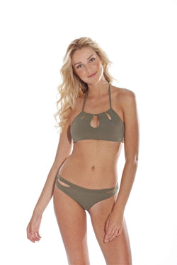 Bella Aloe Bikini Bottom - Veranera Swimwear