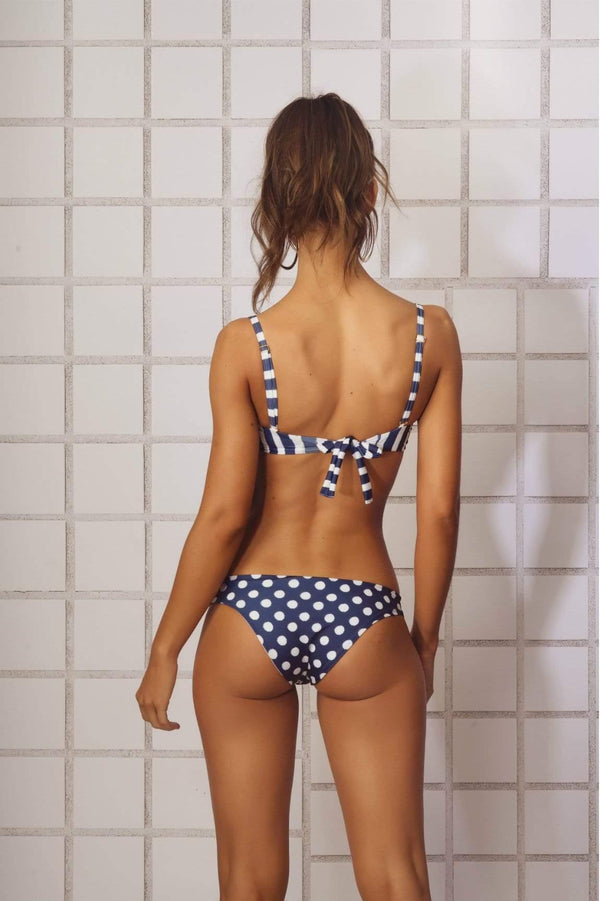 Anchor Blue Bikini Bottom - Veranera Swimwear