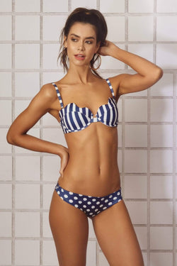 Anchor Blue Bikini Top - Veranera Swimwear