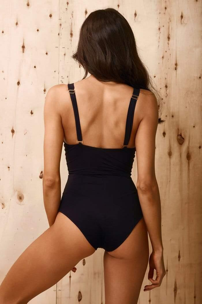 Chic In Black One Piece - Veranera Swimwear