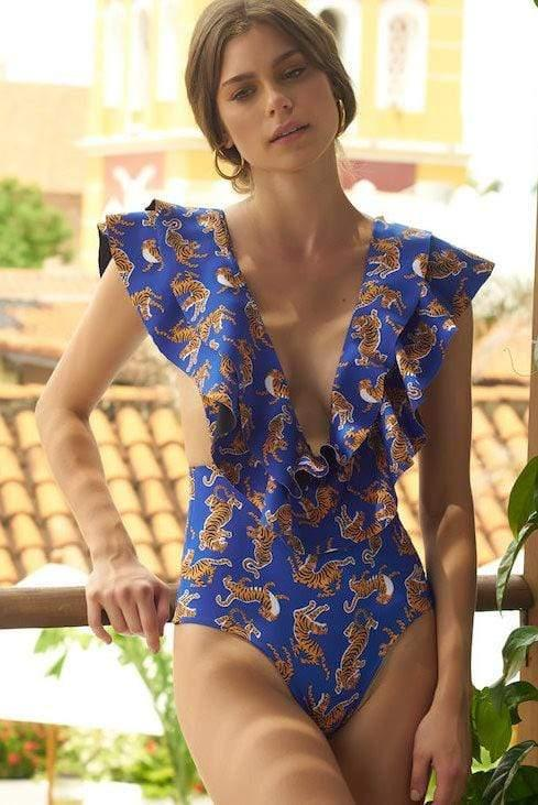 Eye of The Tiger One Piece - Veranera Swimwear