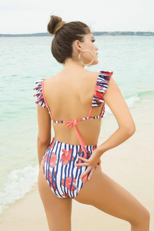 Nautical Bailarina HW Bottom - Veranera Swimwear