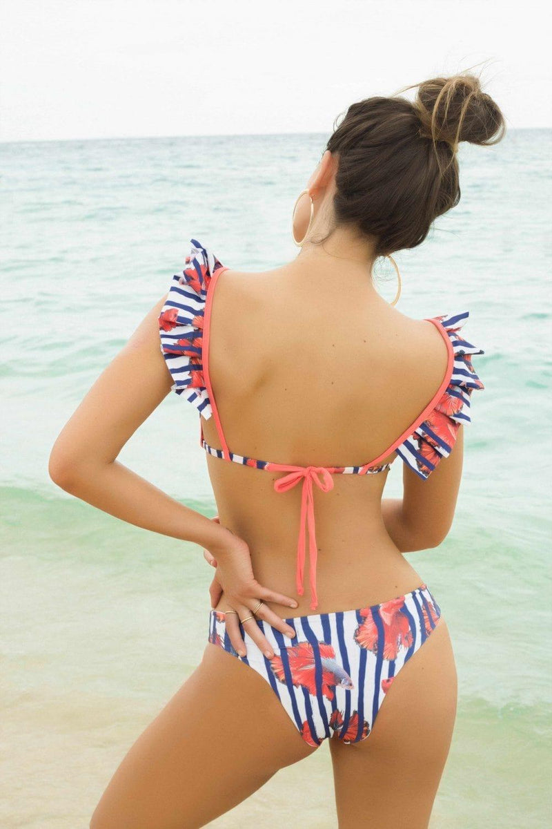 Nautical Bailarina Bikini Top - Veranera Swimwear