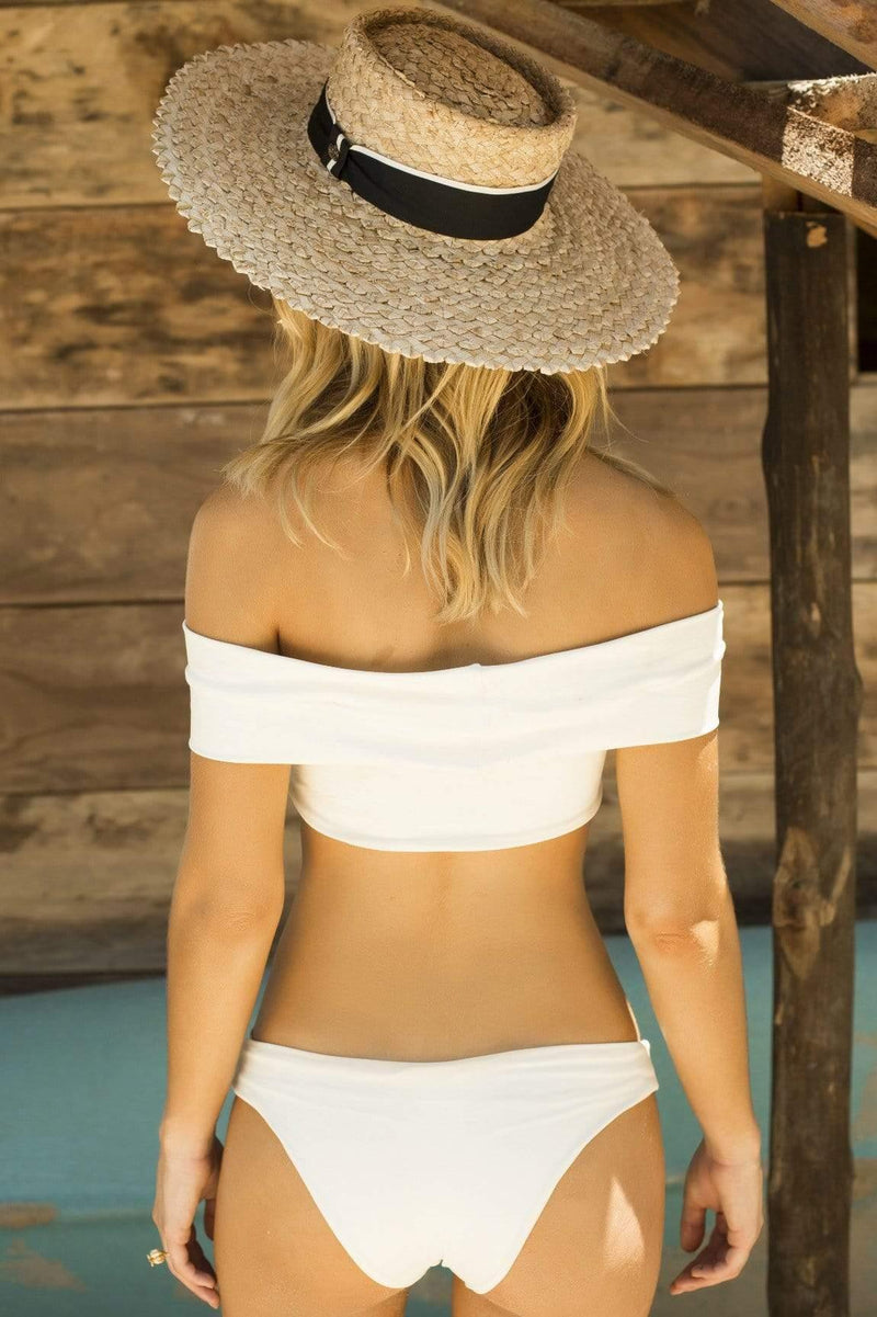 Travel More Beige Bikini Top - Veranera Swimwear