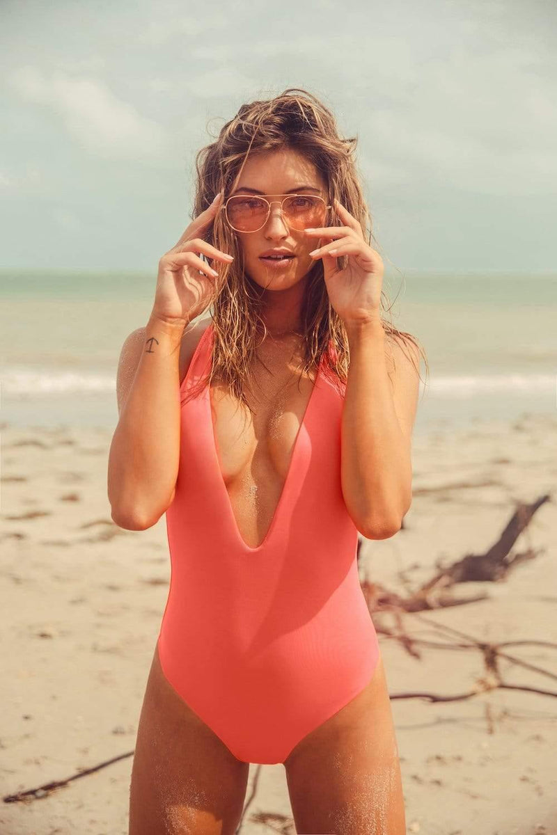 Flamingo Pink One Piece - Veranera Swimwear