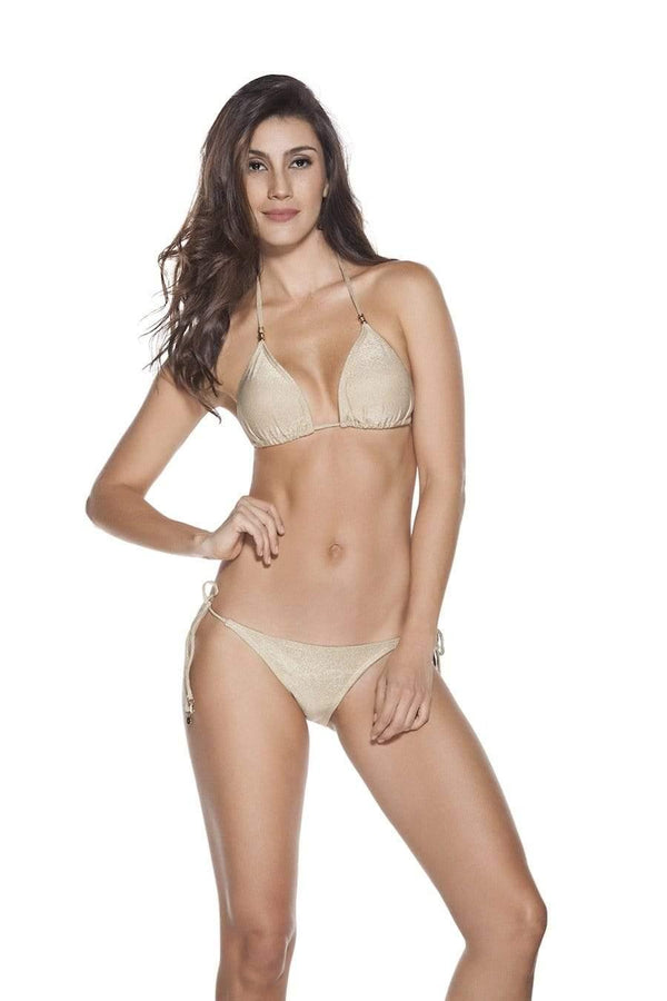 Golden Bikini Bottom - Veranera Swimwear
