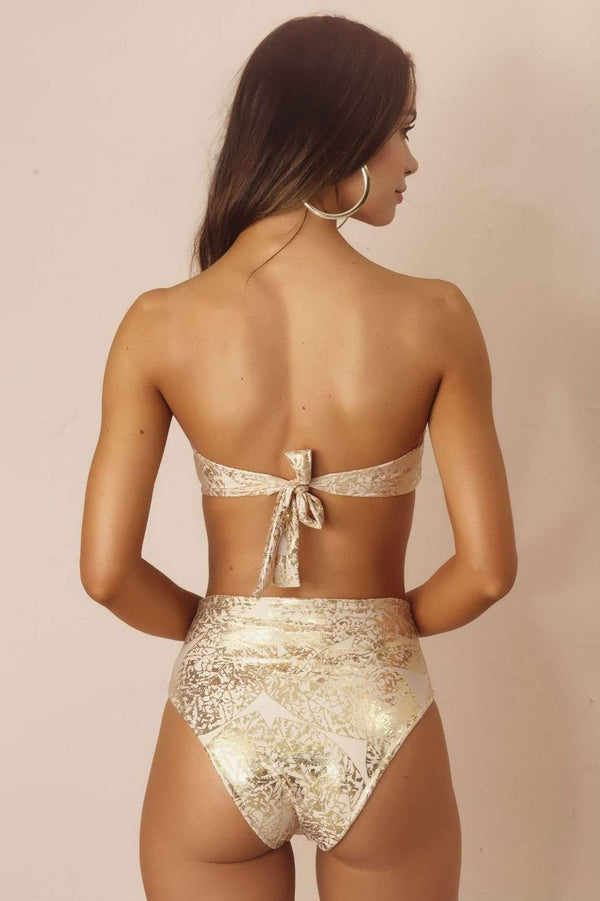 Golden Senzabela HW Bikini Bottom - Veranera Swimwear