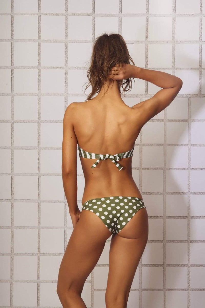 Green Olive Bikini Bottom - Veranera Swimwear