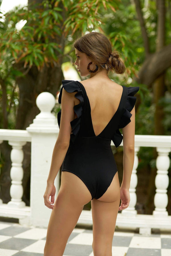 Penelope Black One Piece - Veranera Swimwear