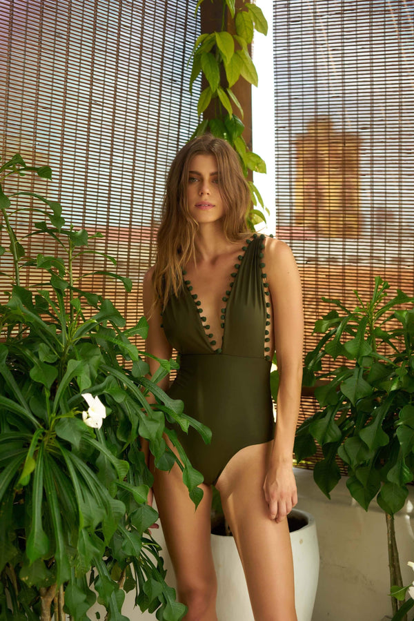 Pompons for Days One Piece - Veranera Swimwear