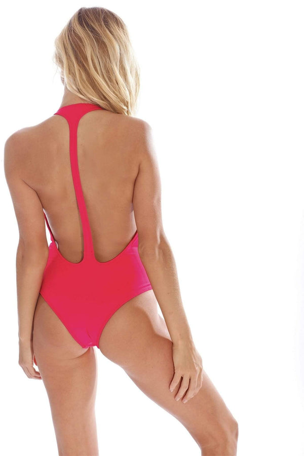 Flamingo Red One Piece - Veranera Swimwear