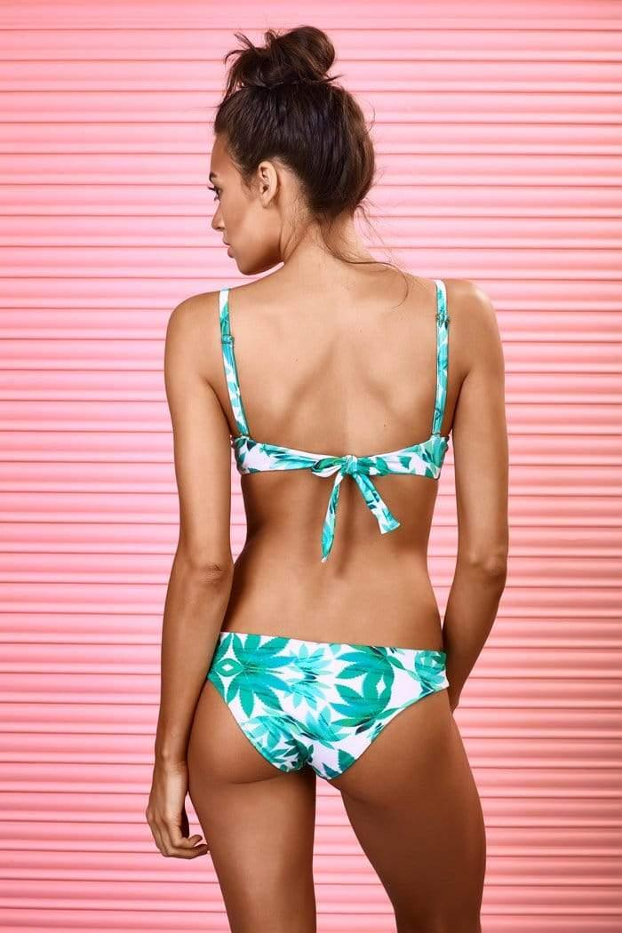 Shades Of Green Bikini Top - Veranera Swimwear