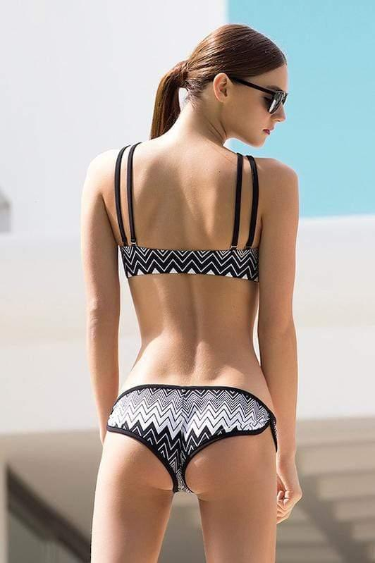 Sporty Zigzag Bikini Bottom - Veranera Swimwear