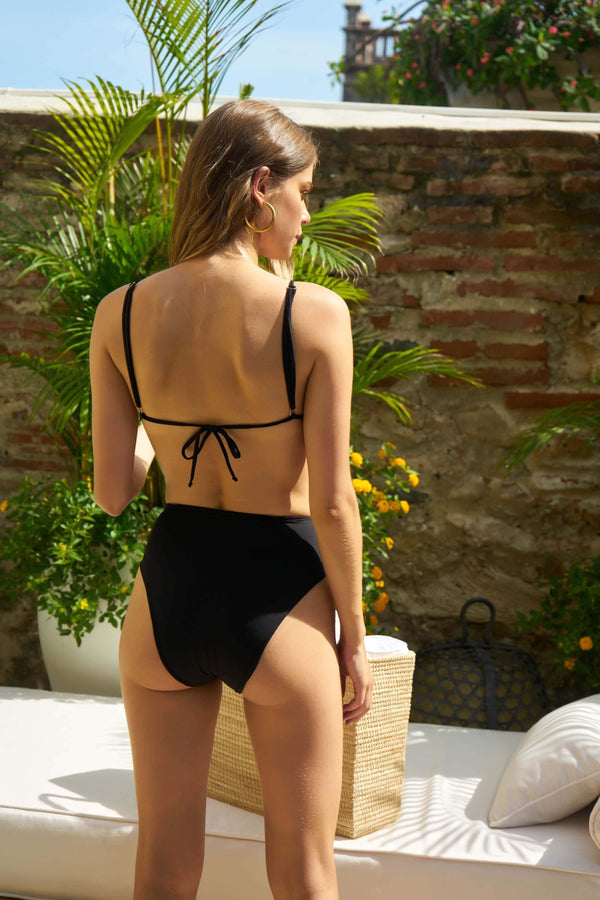 The Lolita Black Bikini Bottom - Veranera Swimwear