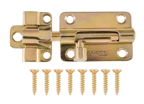 AjustLock 3 Inch Brass Tone Barrel Bolt Lock