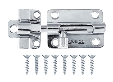 AjustLock 3 Inch Zinc Silver Barrel Bolt Lock