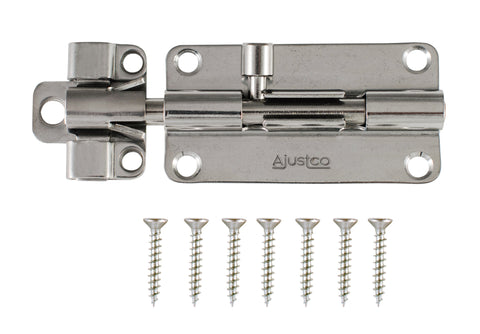 AjustLock 4 Inch SS Barrel Bolt Lock