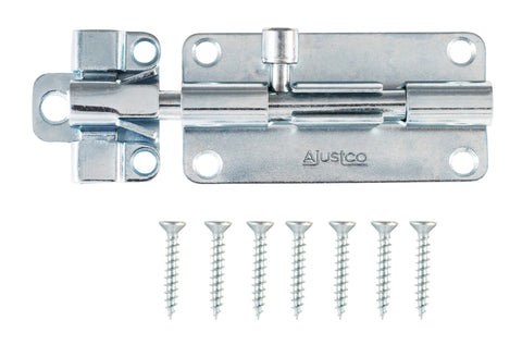 AjustLock 4 Inch Zinc Silver Barrel Bolt Lock
