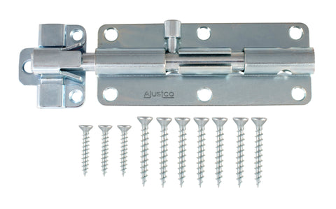 AjustLock 6 Inch Zinc Silver HD Barrel Bolt Lock
