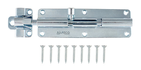 AjustLock 6 Inch Zinc Silver Barrel Bolt Lock