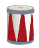 Drum, small, red & white