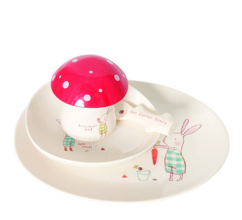 Dish set for little ones - Bunny Green