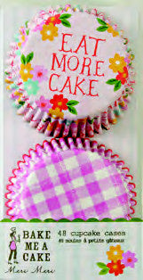 Cupcake Cases Eat More Cake & Gingham